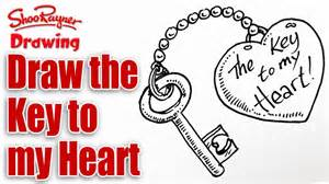 how to draw things for valentines day how to draw the key to your for s day