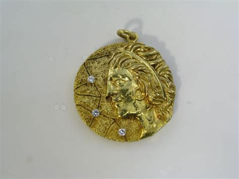 Virgo Yellow Set and co yellow gold quot virgo quot pendant at 1stdibs