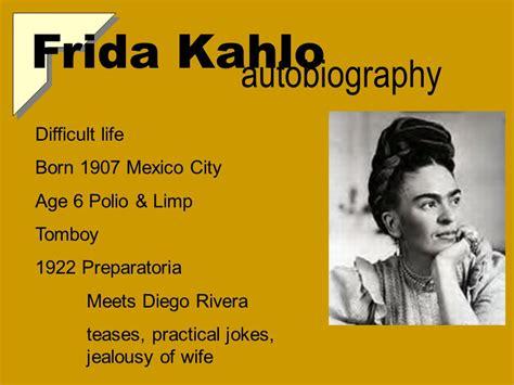 frida kahlo a spiritual biography frida kahlo autobiography por t a c ppt download