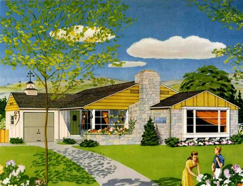 american dream homes plans 50s paint colors archives retro renovation