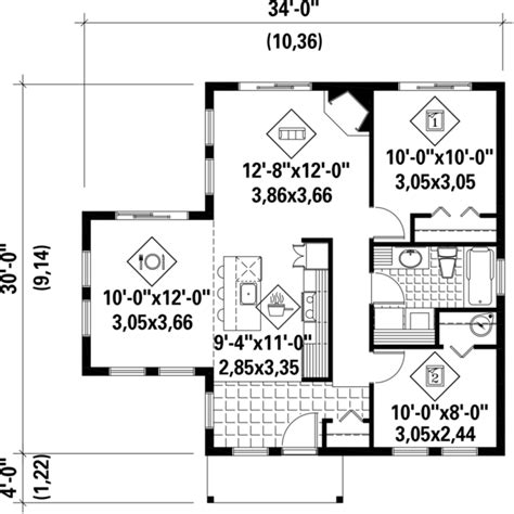 850 sq ft floor plan contemporary style house plan 2 beds 1 baths 850 sq ft