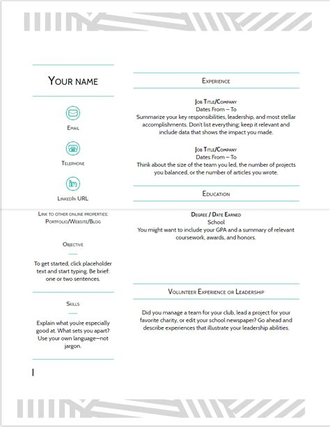 resume templates 2018 docs 10 docs resume template in 2018 best cv