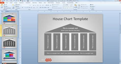 free house chart diagram for powerpoint free powerpoint