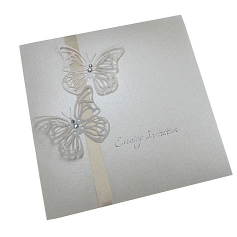 The Handcrafted Card Company - wedding craft on butterfly wedding invitations