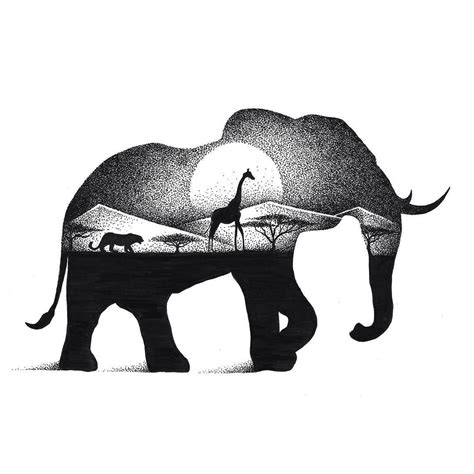 Drawing Elephant by Eclectic Collection Of Drawings And Illustrations