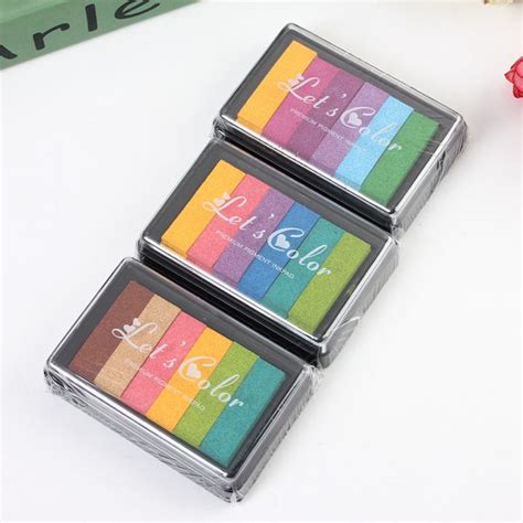 rubber st ink for fabric diy multicolor sponge ink pad for rubber st fabric
