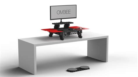 turn desk into stand up desk ombee the stand up desk that turns into a case indiegogo