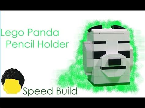 lego bank tutorial full download how to build lego panda pencil holder