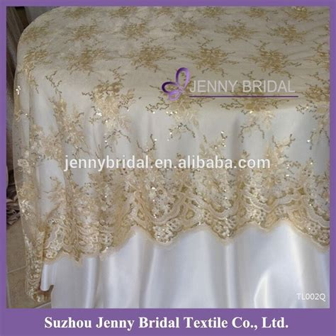 beaded table cloth tl002q chagne sequin beaded table cloth embrodiery lace