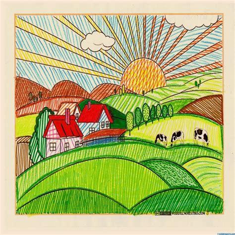 las imagenes artisticas en nuestro entorno dibujos de paisajes a color para imprimir