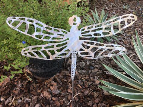 Handmade Yard - dragonfly handmade metal yard stake garden aluminum