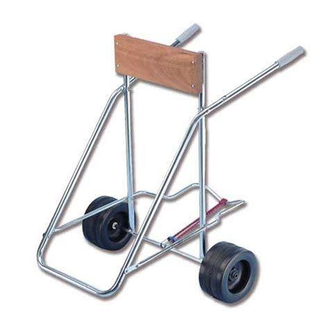 carrello porta motore fuoribordo immagine carrello portamotore con ruote per sabbia e con