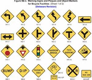 what color are regulatory signs bicycle facilities