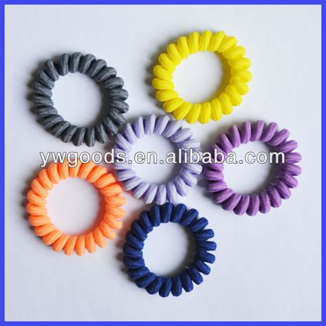 Fabric Covered Plastic Spiral Hair Ties & Bracelets   Buy Fabric Covered Plastic Spiral Hair