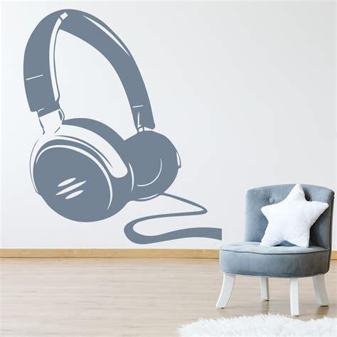 headphones silhouette wall sticker  wall art