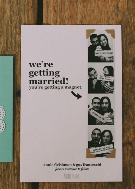 Diy Save The Date Card For Magnets Template by Diy Photostrip Magnet Save The Dates Free Templates