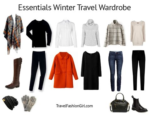Travel Wardrobe Essentials travel essentials packing list for winter cold weather