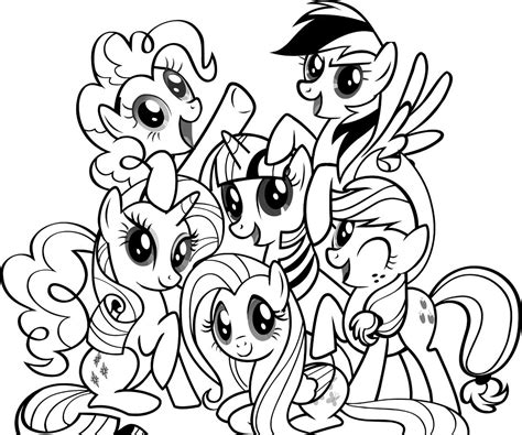 coloring pages my pony printable learn free worksheets for kid my pony free