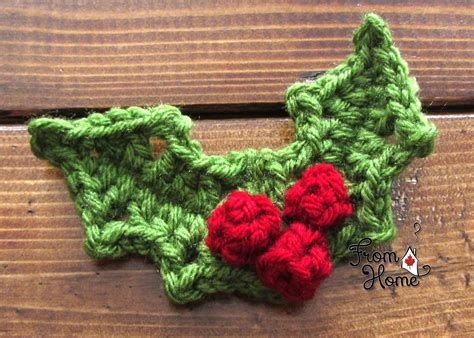 holly leaf pattern knitting holly and berries from home crochet crochet