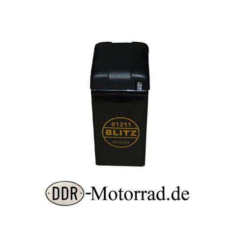 Motorrad Batterie Inbetriebnahme by Batterie 6 V 12 Ah Mz Es 175 250 Ddr Motorrad Ersatzteile