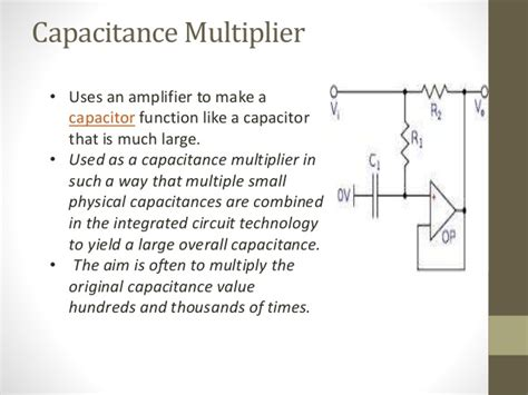 small capacitor multiplier op applications