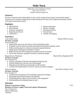 Inventory Associate Cover Letter by Logistics Resume Exle Inventory Associate Animation Producer Sle Resume Promissory Note