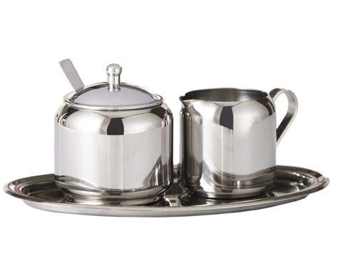 Sugar Milk And Pot 70 Ml stainless steel coffee tea milk jug sugar pot insulated wall set ebay