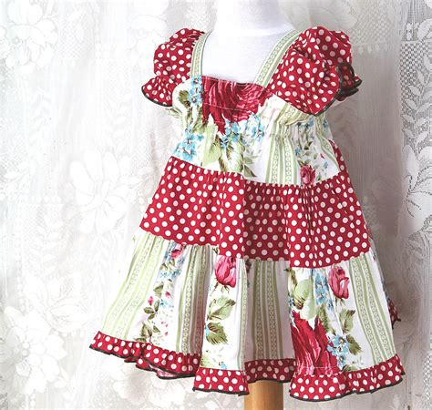Handmade Toddler Dresses - cottage chic baby dress childrens clothing baby