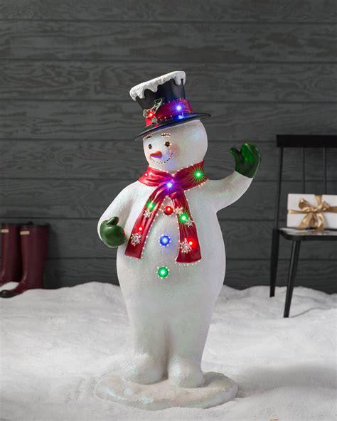 animated fibre optic snowman fiber optic snowman decorations psoriasisguru