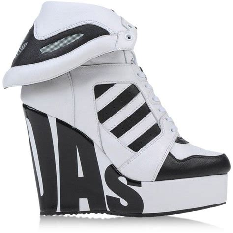 jeremy scott adidas high tops trainers   polyvore