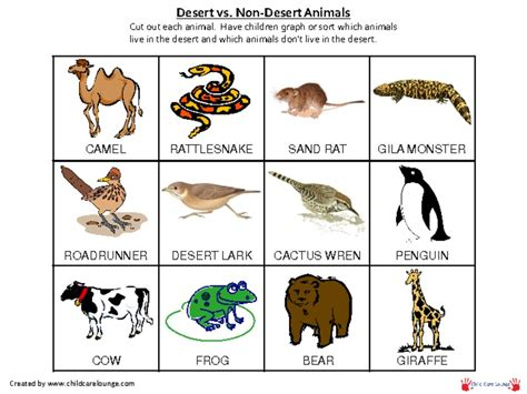 printable animal pictures for sorting desert animals for kids related keywords desert animals