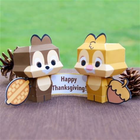 Printable Paper Crafts For Adults - chip n dale cutie papercrafts disney family