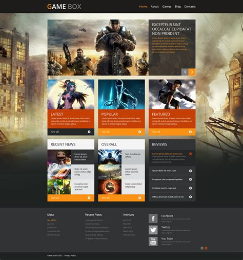 themes in games game portal wordpress theme 48834
