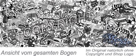 Autoaufkleber Drucken österreich by Sticker Bomb Folie Mit Luftkan 228 Le In Schwarz Weiss