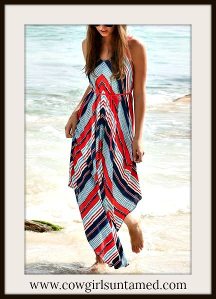 Maxi Free Belt blue striped sleeveless v neck maxi dress with free