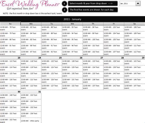 wedding planner template excel super simple destination wedding