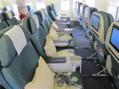 cathay pacific economy comfort cathay pacific 777 business class 11 one mile at a time