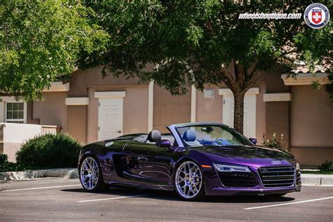Purple Audi R8 by Gallery Purple Audi R8 Spyder On Hre Wheels