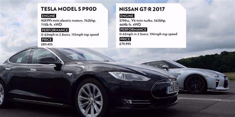 boostaddict tesla model s p90d vs 2017 nissan gtr drag race