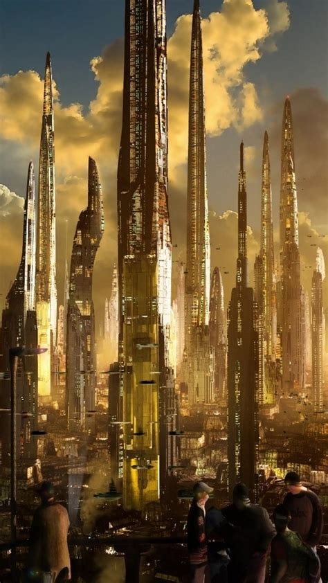 cityscapes futuristic science fiction cities wallpaper