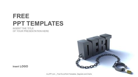debt word finance powerpoint templates