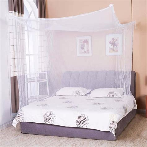 corner queen bed rectangular bed netting canopy mosquito net for king size moski net