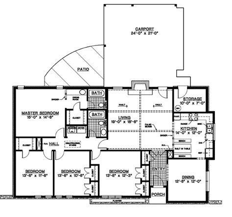 Single Story House Plans by Canfield One Story Home Plan 020d 0155 House Plans And More