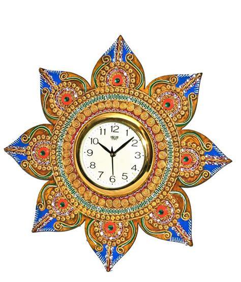 matsyaa designer flower shaped wall clock buy matsyaa