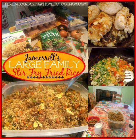 jamerrill large family table jamerrill s large family stir fry fried rice recipe