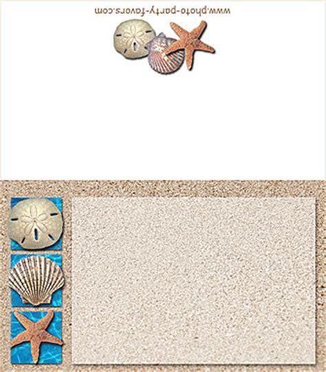 printable beach postcards free printable beach folding place cards