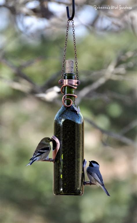 the garden roof coop diy wine bottle bird feeders