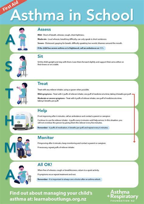 asthma aid children asthma aid in school asthma foundation nz