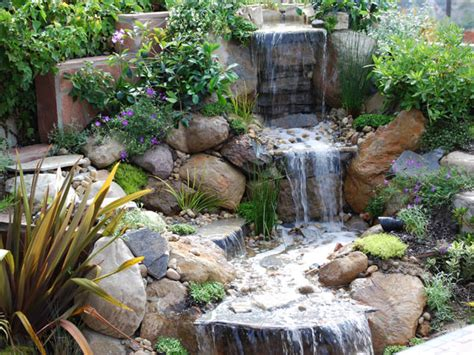 garden waterfall designs garden wallpapers