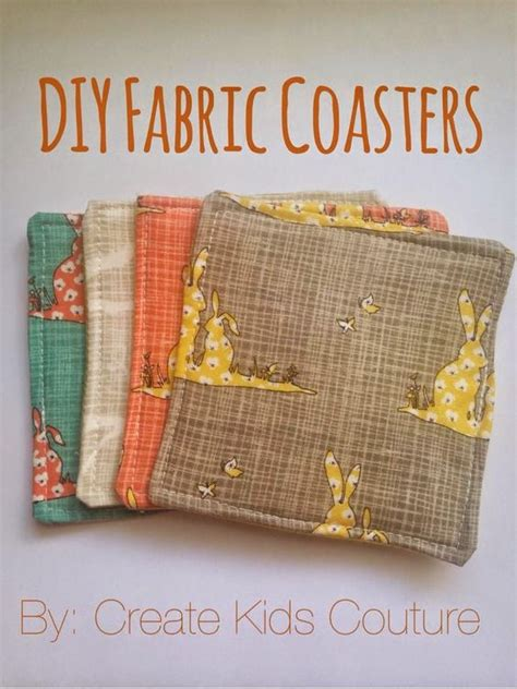 pattern fabric coasters diy fabric coasters great for housewarming or hostess